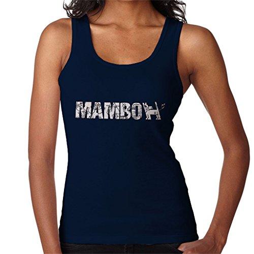 Mambo Raglus Dog Black And White Women's Vest Navy blue