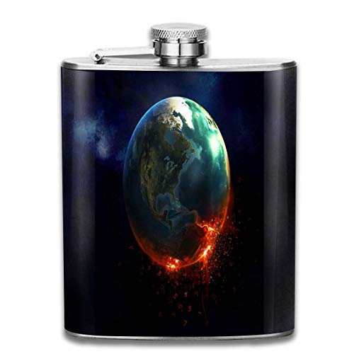 WBinHua Flachmänner Stainless Steel Flask, Whiskey Flask Vodka Alcohol Flask Cool HD Space Galaxy Portable Pocket Bottle, Bag Bottle, Camping Wine Bottle, Suitable for Men and Women 7oz -