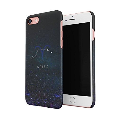 Zodiac Gemini Stars Dünne Rückschale aus Hartplastik für iPhone 7 & iPhone 8 Handy Hülle Schutzhülle Slim Fit Case cover Aries Star