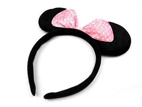 ZADAWERK® - Haarreifen - Minnie/Mickey Mouse (Rosa) (Er Mann Kostüm Kostüm Große)