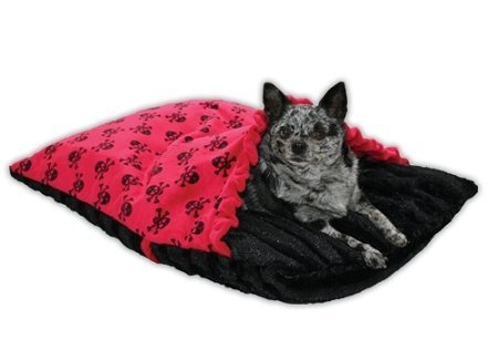 Red Skully Pet Pockets Bedding for Pets that Burrow by Pet Flys 1