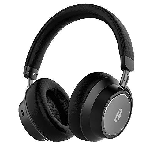TaoTronics Casque Bluetooth à Réduction de Bruit Active Hybride, Écouteurs Tour-Oreille Rapide Charge 45 Minutes pour 30 Heures d'Autonomie avec Basses Puissantes et Micro pour Voyage PC Smartphone (Noir)