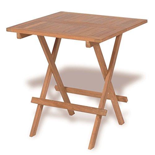 vidaXL Teck Table de bistro d'extérieur 60x60x65 cm