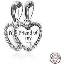 MOCCI 2017 Los nuevos corazones del Pre-Otoño de los granos del encanto de la amistad caben para la joyería original de DIY de las pulseras de Pandora