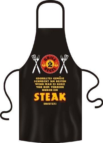 Fun Grillschuerze Grill Regel Nr. 2 Gegrilltes Gemuese schmeckt am besten wenn man es kurz vor dem verzehr durch ein Steak ersetzt!
