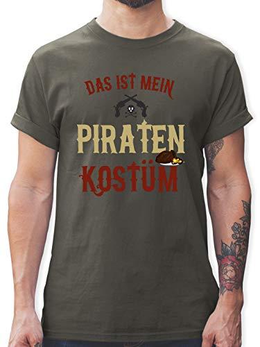 Karneval & Fasching - Das ist Mein Piraten Kostüm - M - Dunkelgrau - L190 - Herren T-Shirt und Männer Tshirt