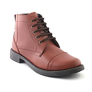 2510 XY Hugo Girls/Women Leather Mid Ankle Length Biker/Police Boot shoes