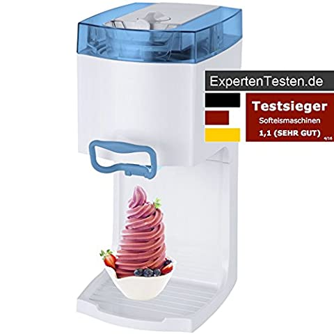 Gino Gelati GG-50W-A Blue 4in1 Softeismaschine, Eismaschine, Frozen Yogurt-Milchshake Maschine,