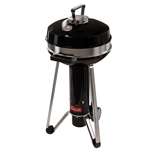 Barbecook Holzkohle-Grill Kugelgrill mit Deckel und Thermometer 3 Beine, Schwarz, 52x61x110,4 cm