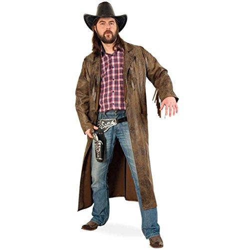 Männer Kostüm Saloon - KarnevalsTeufel Westernmantel, Cowboymantel, Wilder Westen (XXL)
