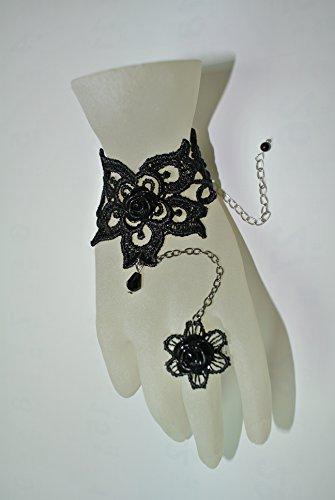 Gothic Lolita elegante Goth Vintage Rose-Anello con