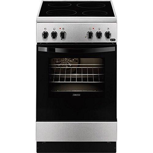 Zanussi ZCV550G1XA Independiente A Negro, Acero inoxidable - Cocina (Cocina independiente, Negro,...