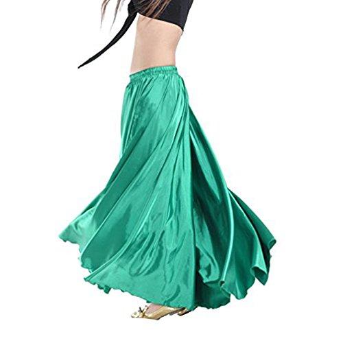 YouPue Damen Tanzkostüm Bauchtanz-Kostüm sexy High-End-Dual Rock Bauchtanz Leistungen große Rock Komfort (nicht enthalten Gürtel) Gürtel Kostüme Bauchtanz Taille Kette Dunkelgrün (High End Für Erwachsene Kostüm)