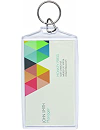 Acrylic Photo Snap-in Business Card Size Key Chain - By Snapins