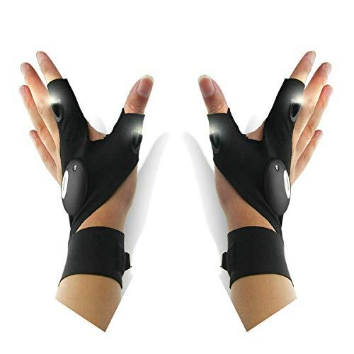 phatias linterna guantes al aire libre multifunción LED linterna de guante, diseño de noche pesca, camping, senderismo, y reparación de trabajo en la oscuridad lugar