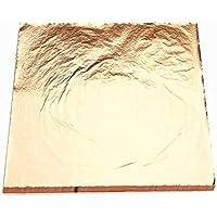 xinzhi Hojas de Papel de Aluminio, Papel de Aluminio Dorado, 100 Hojas de Color Dorado