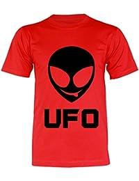 PALLAS Unisex's Alien Smile Funny UFO T-Shirt