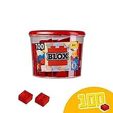 Simba 264.449.841,9 cm Blox 4-Stud Red Building Blocks Set (Pezzi)