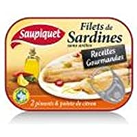 Saupiquet Filets de sardines au deux piments & citron - Recettes Gourmandes La boite de 70g - Prix Unitaire -...
