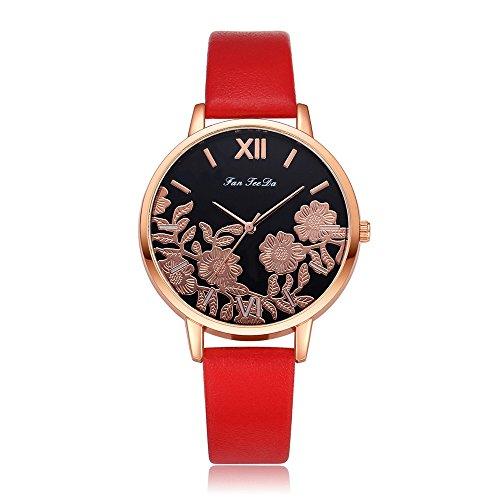 Uhren Damen Armbanduhr Frauen Blumen schnitzen Armbanduhr Quarz Analoge Uhr Mode Uhrenarmband Watch Sportuhr Uhren Retro Armbanduhr,ABsoar