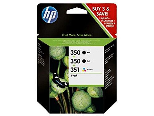 Hp 350/350/351 inkjet print cartridges 3-pack black, cyan, magenta, yellow ink cartridge - ink cartridges (black, cyan, magenta, yellow, officejet j5780/j5785/j6410 photosmart c4280/c4380/c4424/c4480/c5280, inkjet, standard yield, 10 - 80%, -40 - 60 °c)