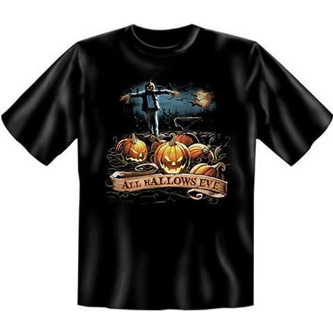 witzige, gruselige Motive! Halloween Fun T-Shirt: Halloween Kürbisse - Funshirt, Größe: XXL (Draculas Frau Kostüm)