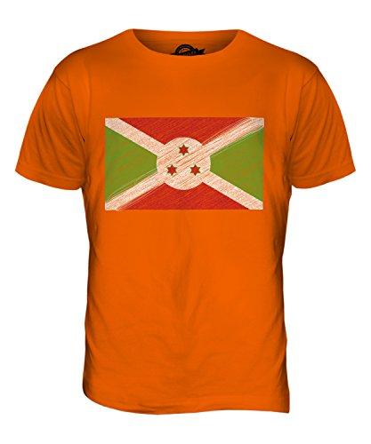 CandyMix Burundi Kritzelte Flagge Herren T Shirt Orange