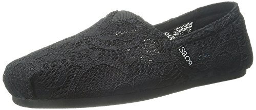 Flotteurs De Skechers Chill Luxe Chaussure Black Lace