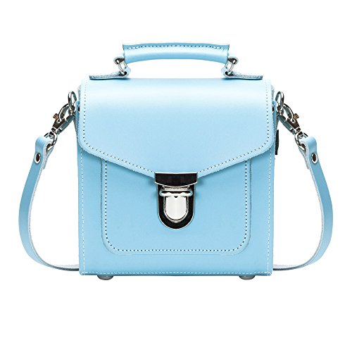 Zatchels - Borsa in pelle fatta a mano con manico colori pastello (British Made) - Donna Verde pastello