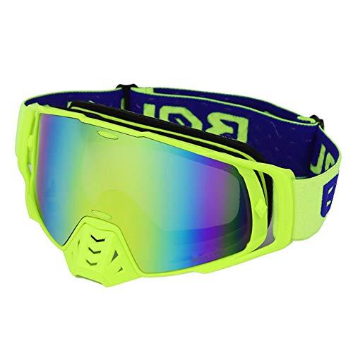 WAJJ Motorradbrillen, Motorrad-Offroad-Brillen, Vollformat-Windschutzbrillen, Anti-Twisted-Brillen, Skiritter-Ausrüstung, Cabrio-Brillen (Color : D)