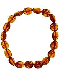 Nature d'Ambre - 3180441 - Bracelet Élastique Cognac