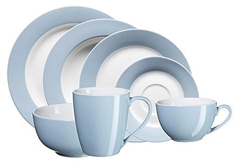 Domestic by Mäser, Serie Kitchen Time, Kombiservice 42-teilig, für 6 Personen, in der Farbe Blau