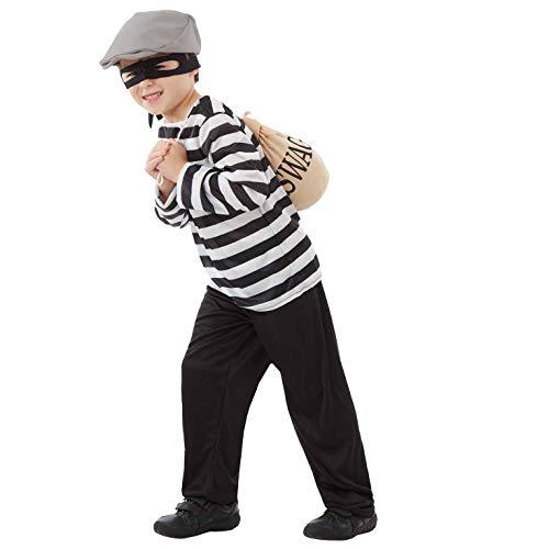 ostüm, Unisex Children, Burglar, m ()