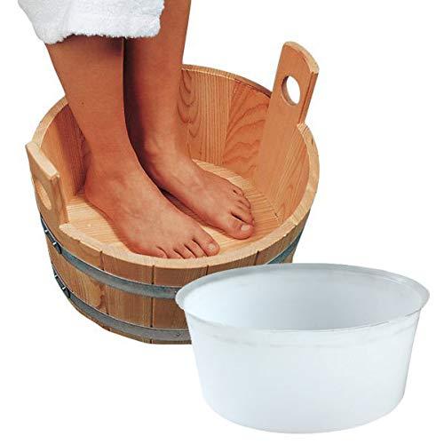 Fußbadewanne Lärche 16 l inkl. Kunststoffeinsatz