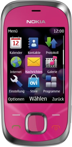 Nokia 7230 Handy (3.2 MP, Musikplayer, Bluetooth, Flugmodus, 2GB Speicherkarte, Slider) Hot Pink (Hot Bluetooth Pink)