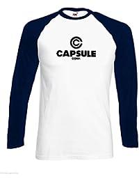 Capsule Corp Herren Tshirt Gesellschaft Lange Hülse Baseball