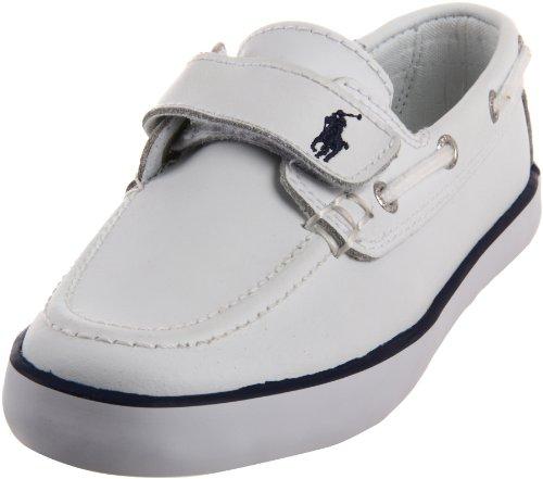 Polo Ralph Lauren Sander EZ, Scarpe da barca bambino, Bianco (Weiß (White)), 24
