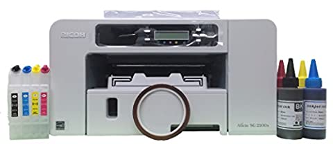 Ricoh Afico SG2100N Printer & Dye Sublimation Starter Package 3, Bundle by Home Media