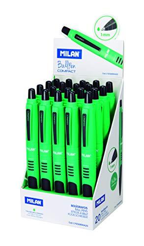 Milán - Expositor 20 bolígrafos Compact verde