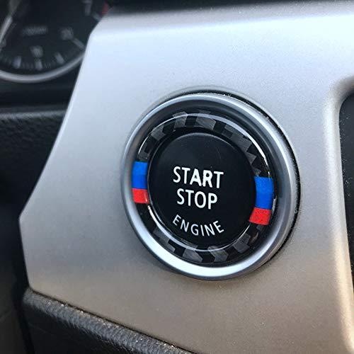 Anello in fibra di carbonio per motore Start Stop Cerchio accensione Portachiavi Trim per 3 serie e90 e92 e93 2009-2012 320i Z4 E89 A