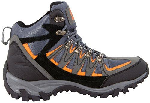 GUGGEN MOUNTAIN Pataugas Chaussures de randonnee Chaussures montantes Hiking Boots Unisex M009 Bottes et boots homme Femmes Gris-Orange