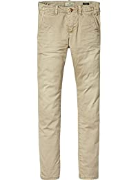 Scotch & Soda Jungen Hose Washed Chinos | Regular Slim Fit