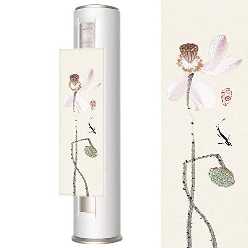 Vertikale Zylinderförmige Kabinett-Klimaanlage-Windschutzscheibe, Aufsatz-Ventilator-Windschutzscheibe, Direkte Durchbrennende Windschutzscheibe, Ausgangswindschutzscheibe ( Color : Fish Lotus ) -