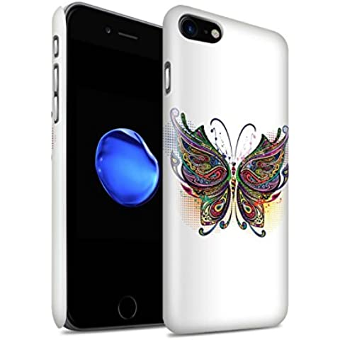 Carcasa/Funda Brillo Broche de Presión en para el Apple iPhone 7 / serie: Animales ornamentales - Mariposa
