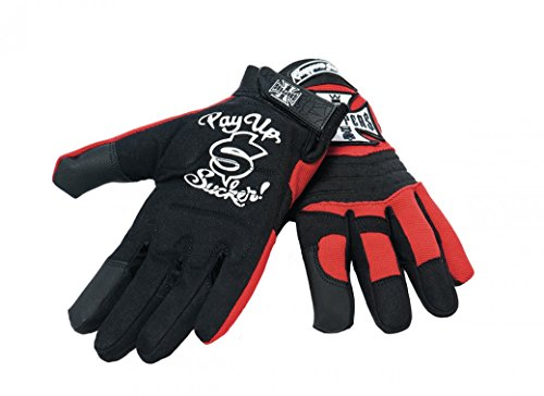 West Coast Choppers Handschuhe WCC Riding Gloves, Größe:M, Farbe:black/red -