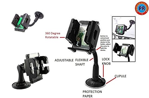 PR Mobile Holder Stand 360 Degree Rotating Flexible Adjustable For All Phone Sizes, Mobile or GPS-Hyundai Verna Fluidic