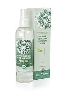 Alteya Organic Eau de Rose Blanche (Rosa Alba) Bulgare en Spray (250 ml) – USDA Certifié Organique (Bio)