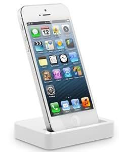 LUPO Lightning Accouplez la station pour l'iPhone 5 d'Apple - blanc