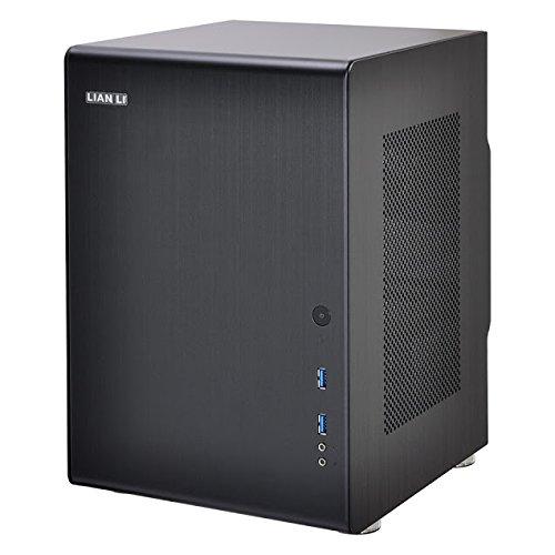 Lian Li PC-Q33B computer case - computer cases (Mini-Tower, PC, Aluminium, Mini-DTX, Mini-ITX, Black, 1 x 120 mm)