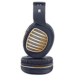iBall Decibel BT01 Smart Headset with Alexa Enabled (Black and Gold)
